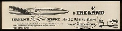 1958 Aer Lingus Lockheed Constellation plane ad