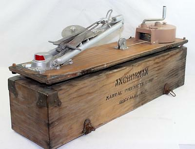Exceedingly Rare Anchorman Marwal Boat Anchor Davit Salesman's Sample &Carry Box