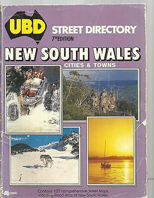 AUSTRALIA NEW SOUTH WALES STREET DIRECTORY - UBD CITIES & TOWNS 7th EDITION 1988