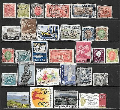 ICELAND Interesting and Diverse Mint and Used Issues Selection (Jun 0106)