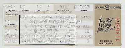 Rare DAVID BOWIE 9/3/87 Boston MA Sullivan Stadium Concert Ticket!