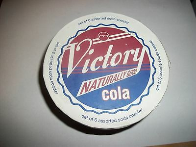Vintage Advertising Soda Porcelain Coasters- Brand New In Box
