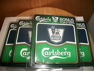 8- Brand New- Carlsberg Beer Solid Rubber Washable Coasters