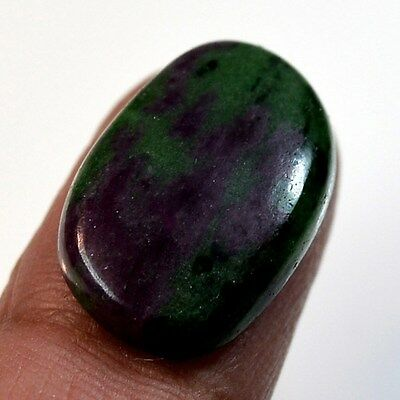 16.5Ct Natural Ruby in Zoisite (23mm X 14mm) Cabochon