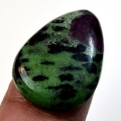 23Ct Natural Ruby in Zoisite (26mm X 18mm) Cabochon