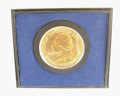 1976 Bicentennial Commemorative Medal Declartion Independence Jefferson Coin