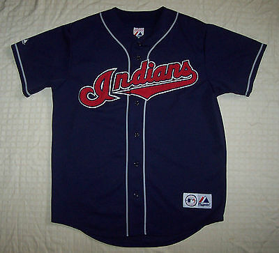 Cleveland Indians MLB Baseball Jersey Shirt Mens Size M/L Medium/Large