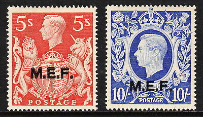 Middle East Forces — Scott 14-15 (Sg M20//m21) — 1947 Kgvi  — Mlh — Scv $40.00