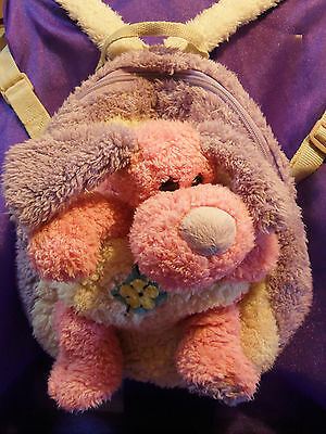 Childrens Puppy Dog Soft Toy Bag Rucksack/Backpack VGC