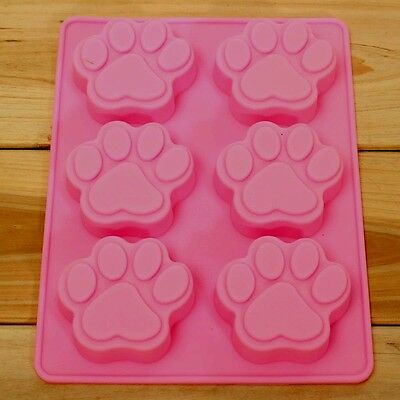aus seller.. PAW PRINTS lge (use for paw patrol)  CHOCOLATE/SOAP  SILICONE MOULD