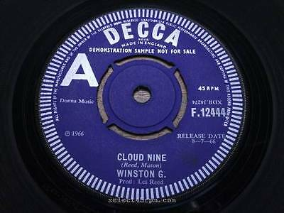 WINSTON G = Cloud Nine = NEAR MINT/EX = DECCA F 12444 = Mod Beat Soul Dancer / S