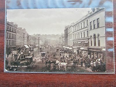 No 4 Patrick street  Cork, Ireland, circa 1900 POSTCARD much transport & activ