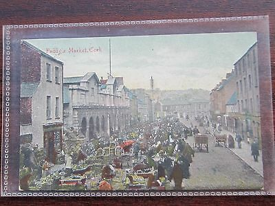 No 3 Paddy,s market  Cork, Ireland,sent 1906 POSTCARD emerald isle series