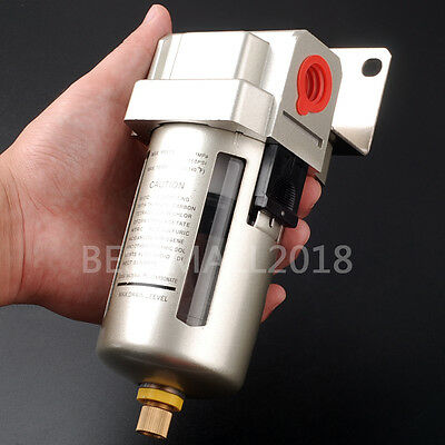 "1/2"" AF4000-04 Air Compressor Inline Drain Filter Water Moisture Trap Separator"