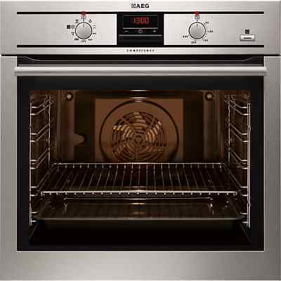 AEG BE300360KM Built in Stainless Steel Electric Single Oven with Steam Function