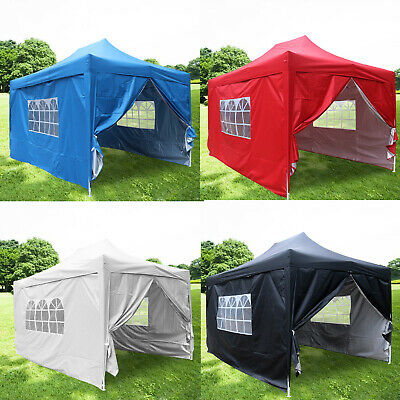 3x4.5m Pop Up Gazebo Marquee Outdoor Garden Party Tent Canopy with 4 Side Panels