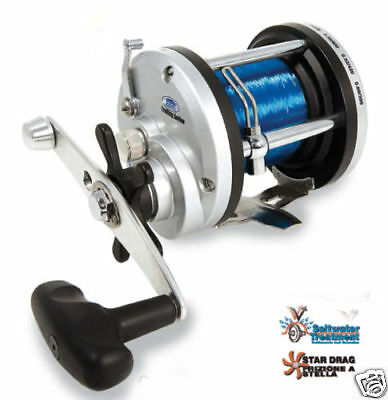 Lineaeffe JD300 Multiplier Fishing Reel + 20lb line Sea Fishing Tackle