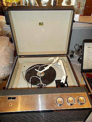 VINTAGE RECORD PLAYER  HMV  MODEL No 2004 GARRARD DECK - FULLY WORKING