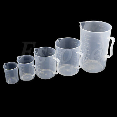 Plastic Measuring Cup 150mL-2000mL Jug Pour Surface Kitchen Lab Container Gadget