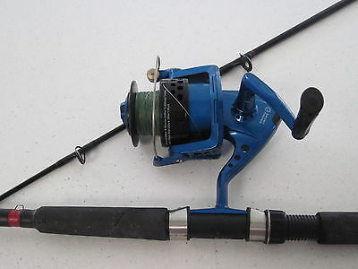 Boat Fishing Rod & Reel Complete, Hh Fishunter, & Saturn 8000
