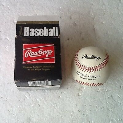Rawlings-Olb-1.official League-Genuine Leather-Baseball-Finest In The Field-Bnib