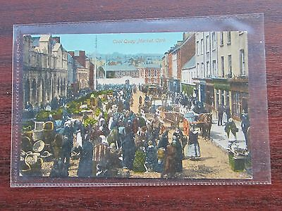 No 1 market coal quay Cork, Ireland, unused POSTCARD valentine 18557 early
