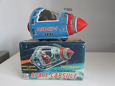 Blech Space Capsule Horikawa Japan +Ovp Sehr Selten Rare Space Toy !!