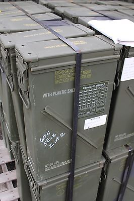 81Mm Ammo Can's Cans Can Very Good Condition * Free Shipping *