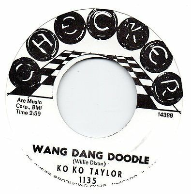 KO KO TAYLOR-WANG DANG DOODLE/THE LOVERS-SECURITY  CHECKER Re-Iss/Re-Pro 60s R&B