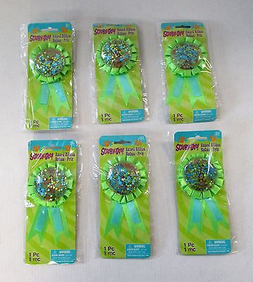 Pack of 6 Scooby Doo Confetti Award Ribbon - Rosettes - Party Accessories