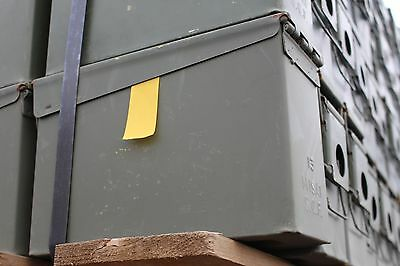 LOT OF 2 30 Cal Ammo Can Box  Army Military M19A1 Metal Storage 7.62 MM