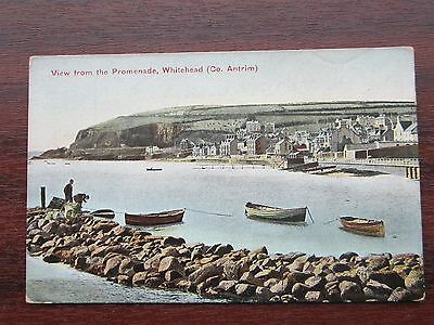 No 4 View From  Promenade Men & Boats Whitehead: Co Antrim Postcard Not Posted