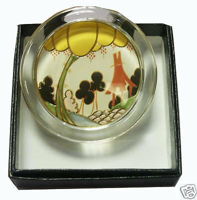 Clarice Cliff Small Paperweight - Summerhouse (repro)