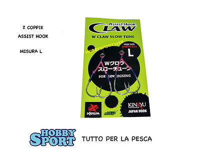 Assist Hook Claw Slow Jigging  Mis. L -  Xesta