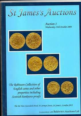 St James Auction Catalogue  Oct 2004 The Robinson Collection Of English Coins Ex