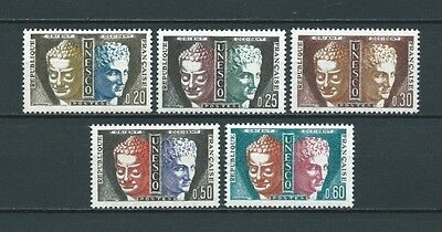 FRANCE SERVICE - 1960-65 YT 22 à 26 - TIMBRES NEUFS** LUXE