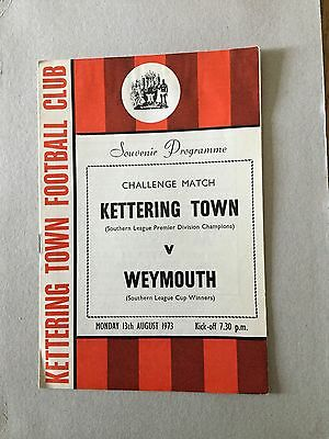 KETTERING TOWN v WEYMOUTH ( Fr) 1973/4.