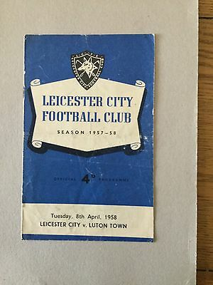 LEICESTER CITY v LUTON TOWN 1957/8.