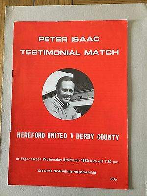 HEREFORD UNITED v DERBY COUNTY ( Isaac Testimonial ) 1980.
