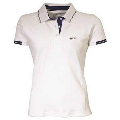 MARK TODD BETTY SHORT SLEEVE POLO SHIRT WHITE for women ladies riding wear