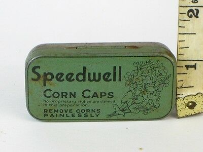 22563 Old Vintage Antique Tin Art Deco Medical Ointment Wartime Home front WWII