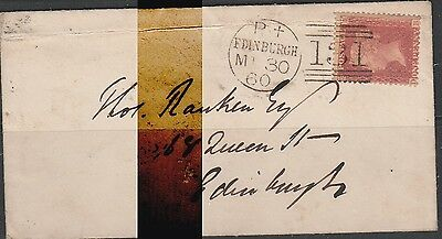 G.B. QV 1d COVER BACKSTAMPED
