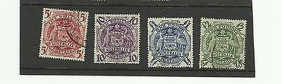 Australia KGVI 1949/50 High values 5/- to £2 SG 224a - 224d used