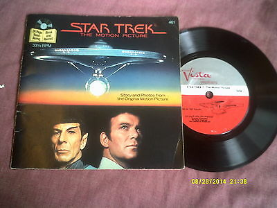 """Star Trek The Motion Picture 7"""" Record + Book"""