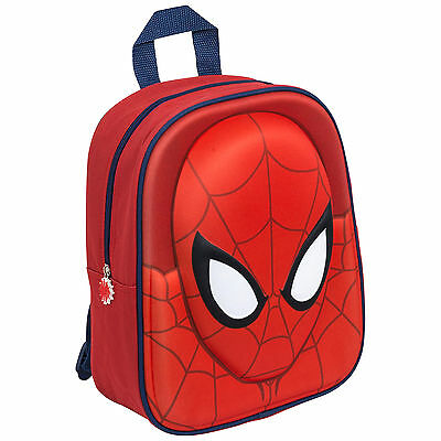 Kids Marvel Spider-Man Spiderman 3D Junior Backpack School Bag Rucksack