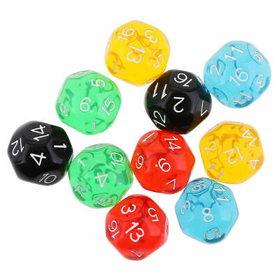 10PCS D16 Polyhedral Dice for Dungeons and Dragons Party Favors Dice New