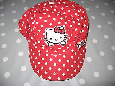 Casquette fille rouge pois blancs HELLO KITY  52 CM TBE
