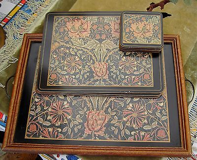 Vintage William Morris Pimpernel Tray & Place Mats Coasters Arts And Crafts