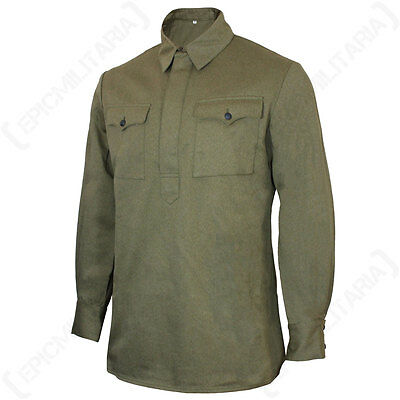 WW2 Russian M35 Gimnasterka Tunic - Repro Army Uniform Shirt Top Soldier Green