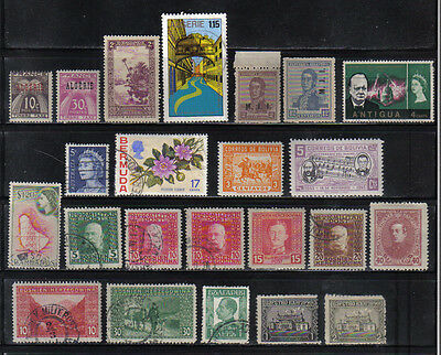 23 Older Mint And Used Postage Stamps A And B Countries
